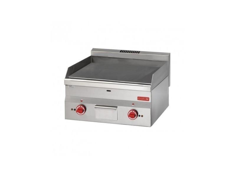 Plancha lisse professionnelle - électrique - gastro m - inox 600