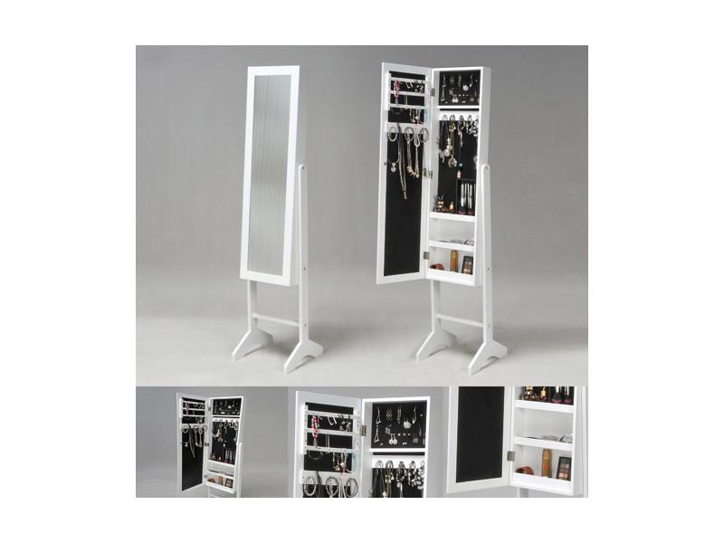miroir coffre bijoux bianca blanc 01059 conforama. Black Bedroom Furniture Sets. Home Design Ideas