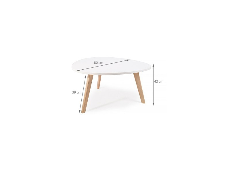 Alta table basse scandinave aspect galet pieds en bois for Table basse scandinave galet
