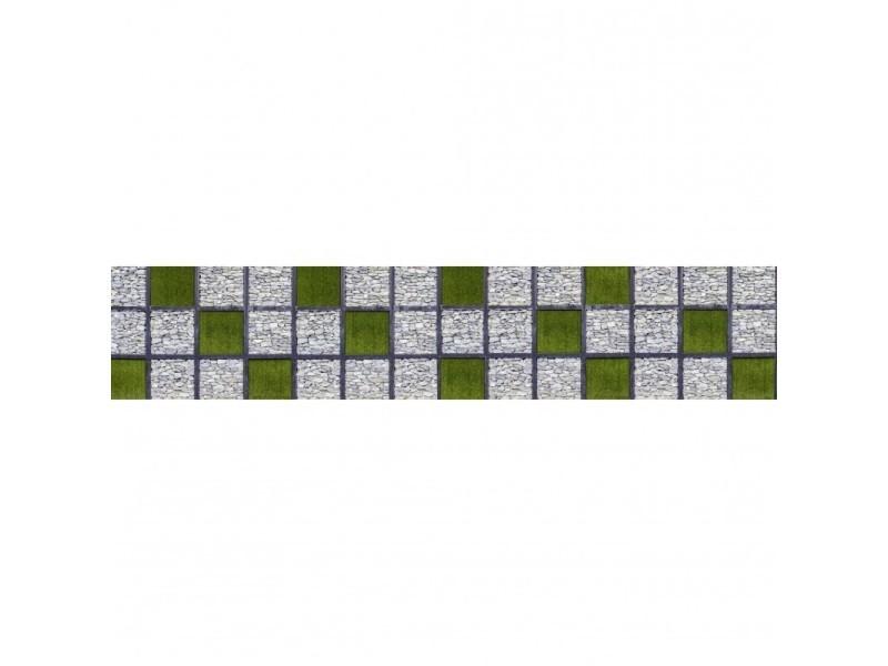 Brise vue 100% occultant mosaic garden 500 x 100 cm - canisse brise vent pour clôture de jardin