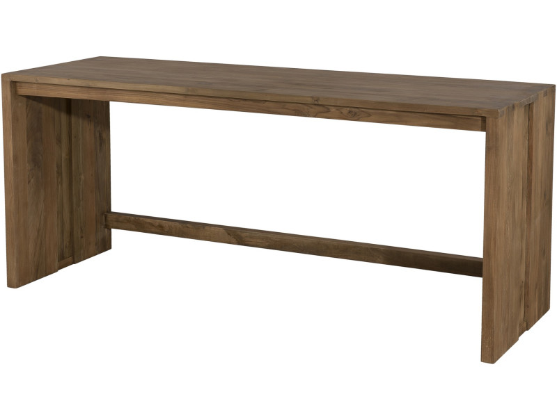 Rustique en bois de bureau en bureau vue de dessus avec l espace