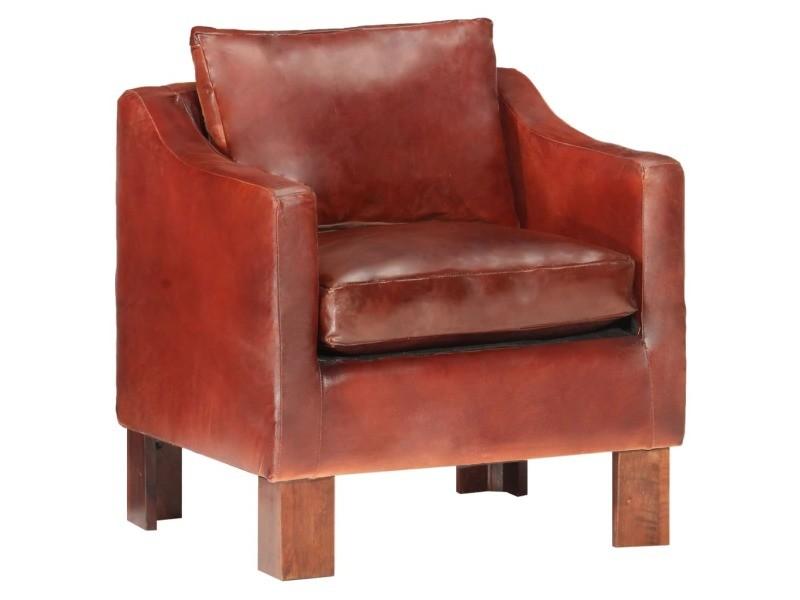 Icaverne fauteuils selection fauteuil marron foncé cuir