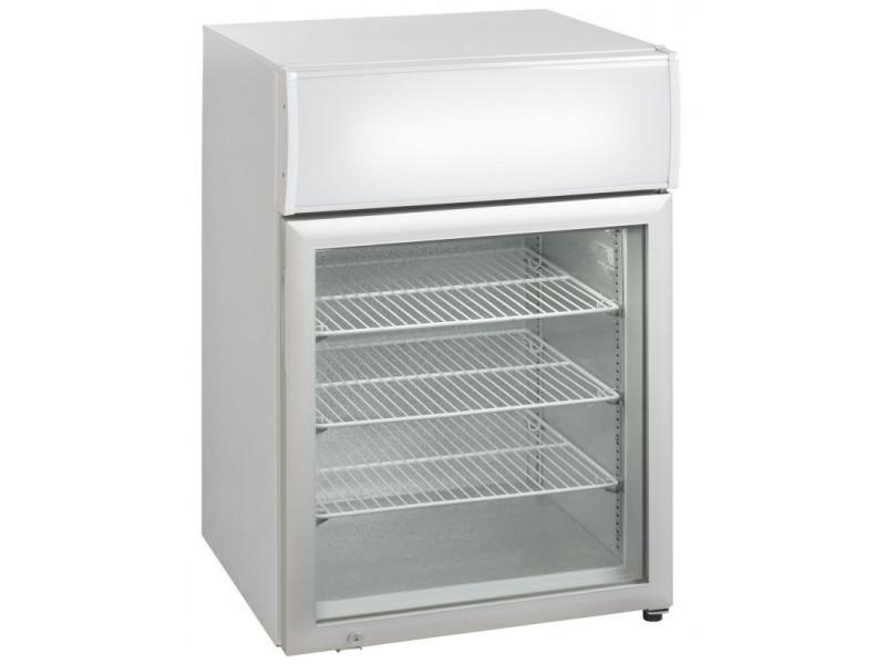 Mini armoire réfrigérée de comptoir avec canopy porte vitrée - 100 litres - r290 1 porte vitrée