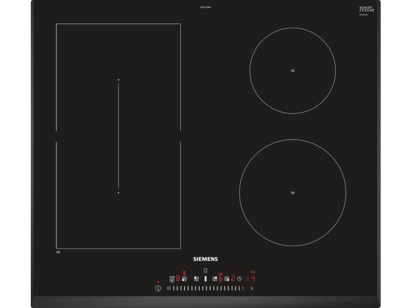 Table de cuisson à induction 60cm 4 foyers 6900w noir - ed651fsb5e ed651fsb5e