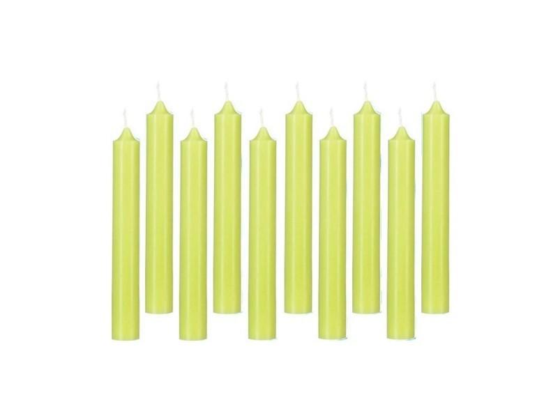 Lot de 10 bougies bâton \