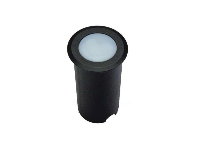 Petit spot encastable 1,5w led tour noir étanche ip67 - blanc du jour 6000k SP-F110-CW-NOIR
