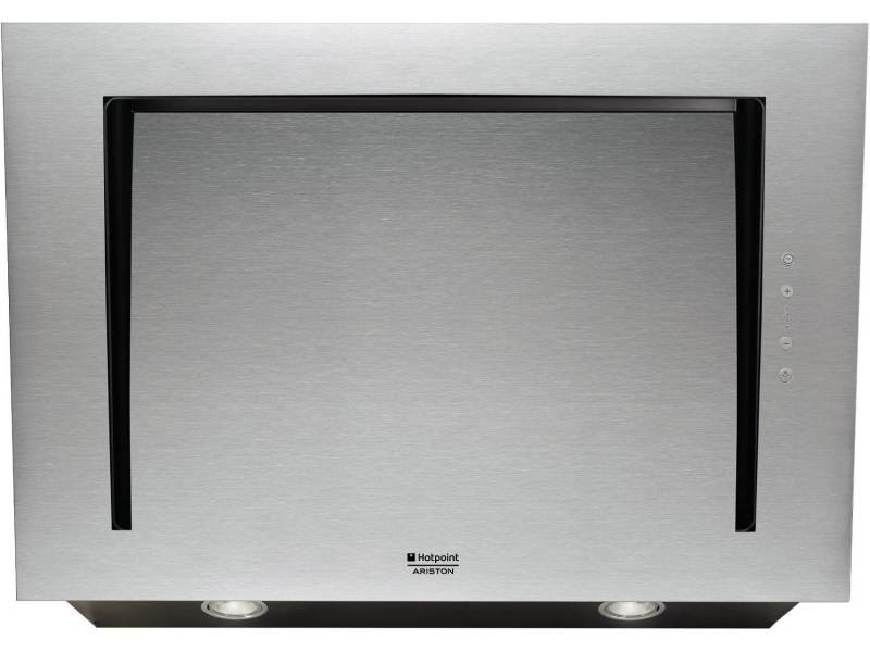 Hotpoint-ariston hlvc8athax hotte décorative - 58 db - evacuation ou recyclage - inox