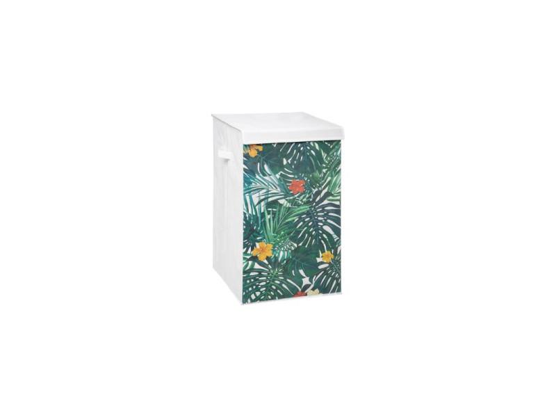 Panier à linge tropical - 35 x 35 x 60 cm
