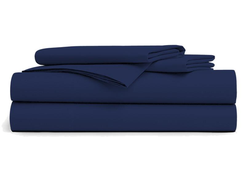 Drap plat 240 x 300 bleu marine - homerokk