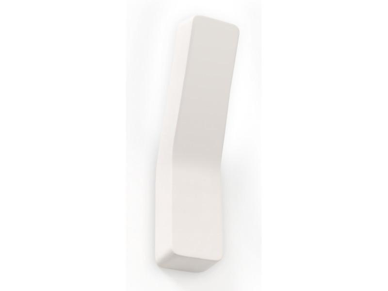 Applique murale comma céramique blanc 1 ampoule