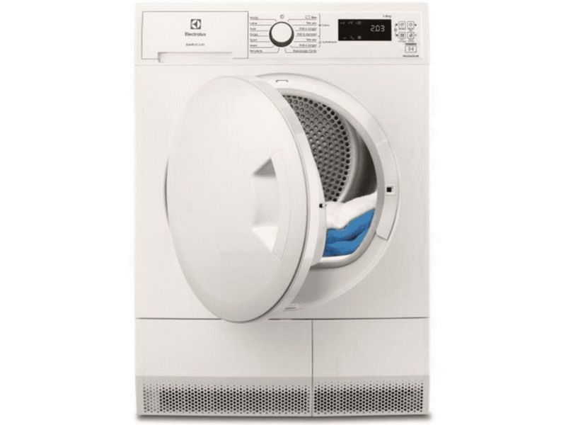 Sèche-linge pompe à chaleur avec condenseur 60cm 8kg a+ blanc - ew7h4801sc ew7h4801sc