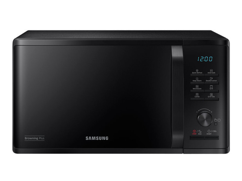 Samsung mg23k3515ck countertop grill microwave 23l 800w noir micro-onde