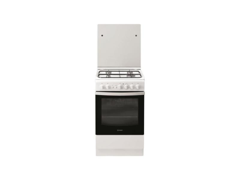Indesit is5g2pcw/fr - cuisiniere table gaz - 50cm - 4 zones de cuisson - blanc IND8050147567883