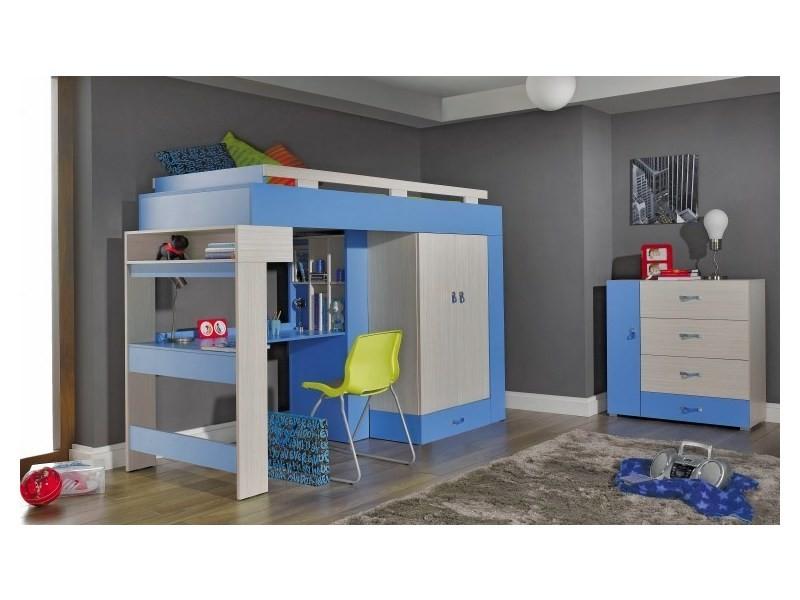 Lit Mezzanine Bleu Et Blanc Axel Vente De House And Garden Conforama