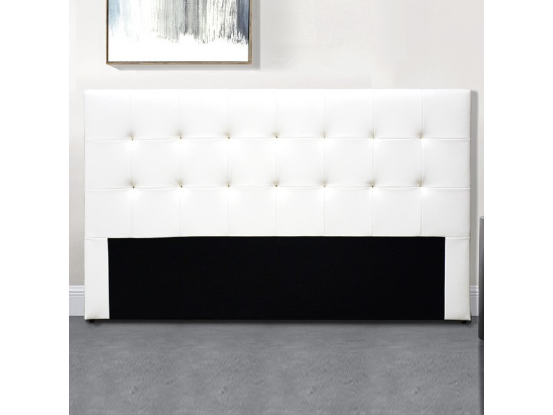 Tête de lit capitonnée capitole - blanc tête de lit - 160 cm