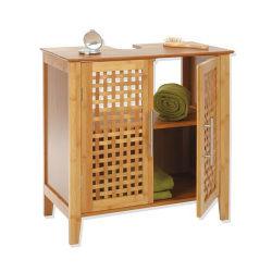 Meuble dessous de lavabo bambou