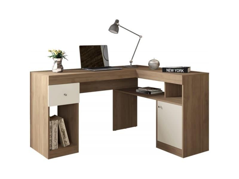 Bureau D Angle Chene Caisson Et Rangements Vente De Beauxmeublespaschers Conforama