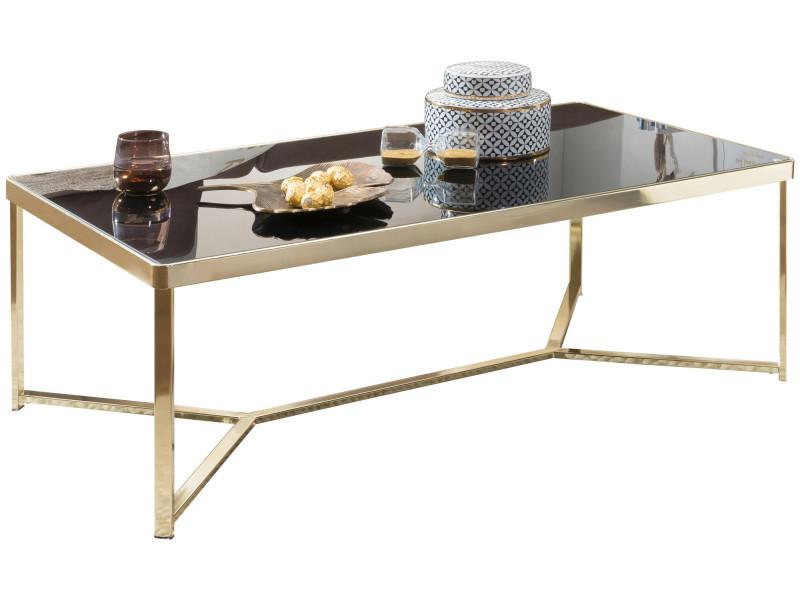 Table Basse Design Plateau En Verre Trempe Noir Securit 10mm
