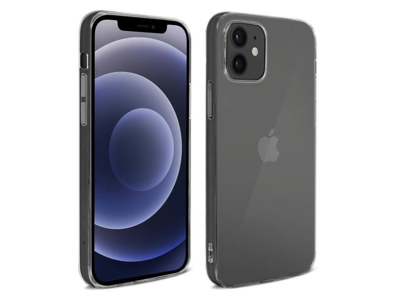 Coque iphone 12 mini silicone gel souple antichoc ultra-fine 2mm transparent