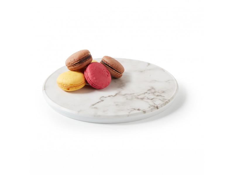 Présentoir rond en mélamine effet marbre ø 23 à 32,5 cm - pujadas - 23 cm mélamine 28 (ø) cm