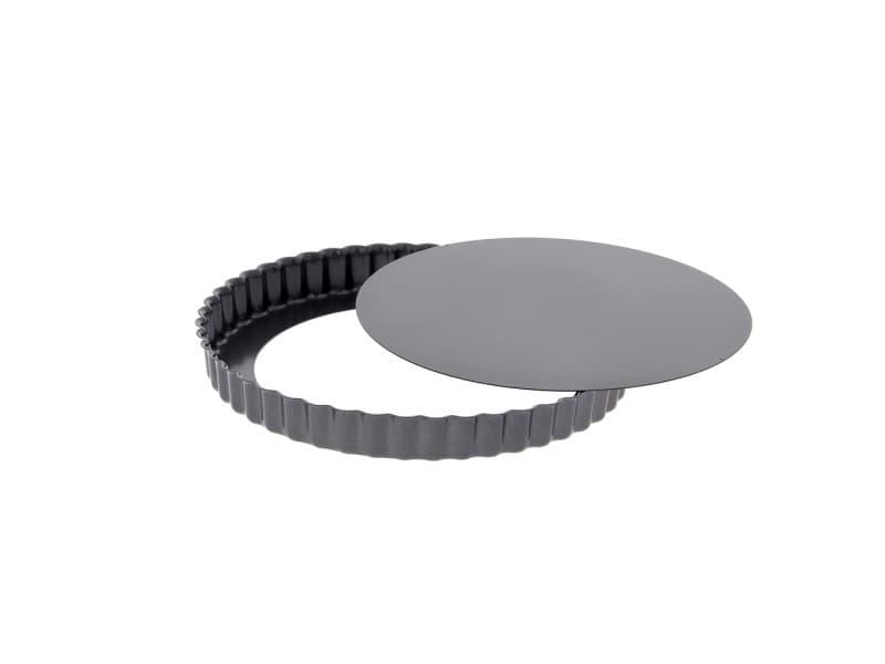 Moule à tarte 20 cm en acier anti adhèrent fond amovible