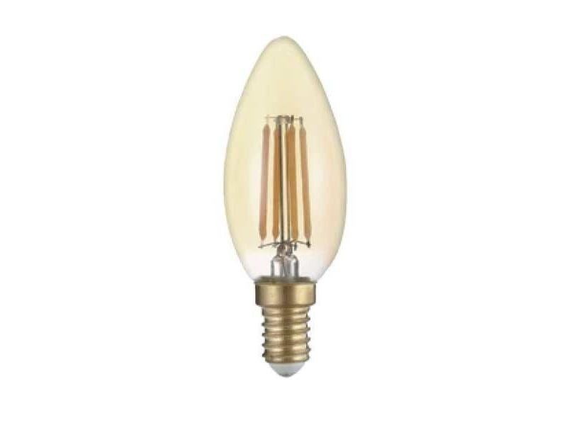 Ampoule e14 led filament 4w c35 bougie - blanc chaud 2300k - 3500k