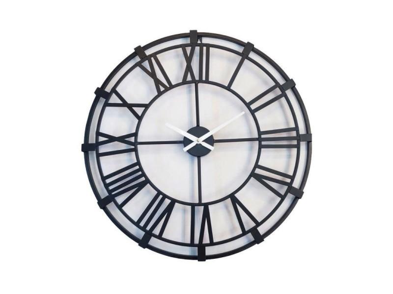 Horloge ronde 60 cm métal - antik
