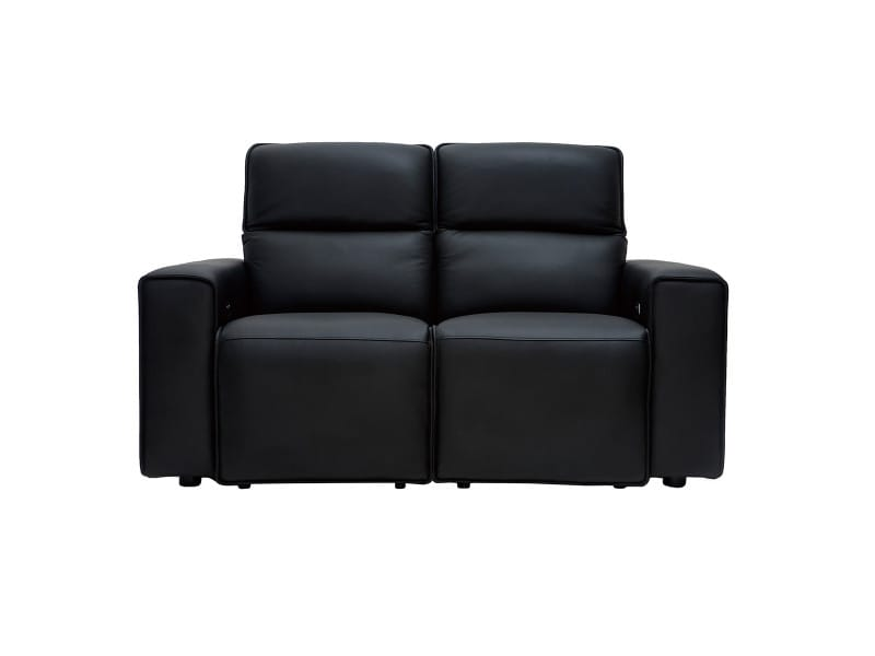 Canapé relax électrique en cuir noir avec têtières ajustables ruiz - cuir de vache