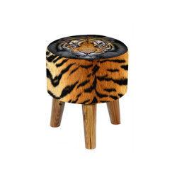 Tabouret rond jungle tigre