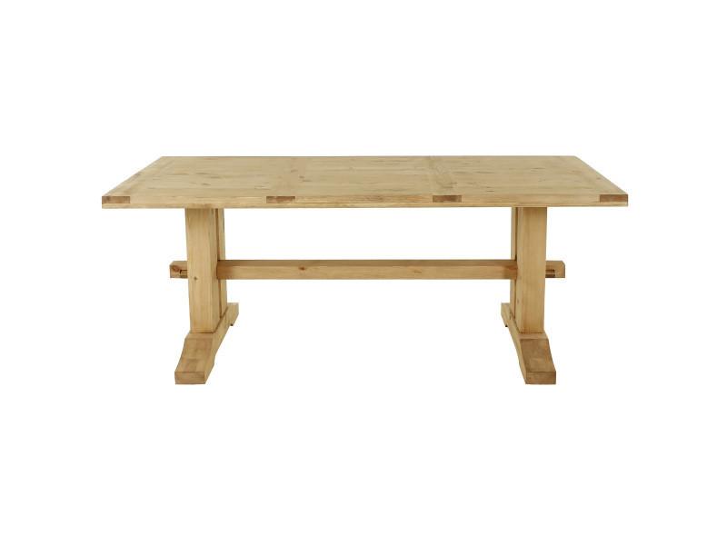 Table rustique en pin massif 200 cm farmer