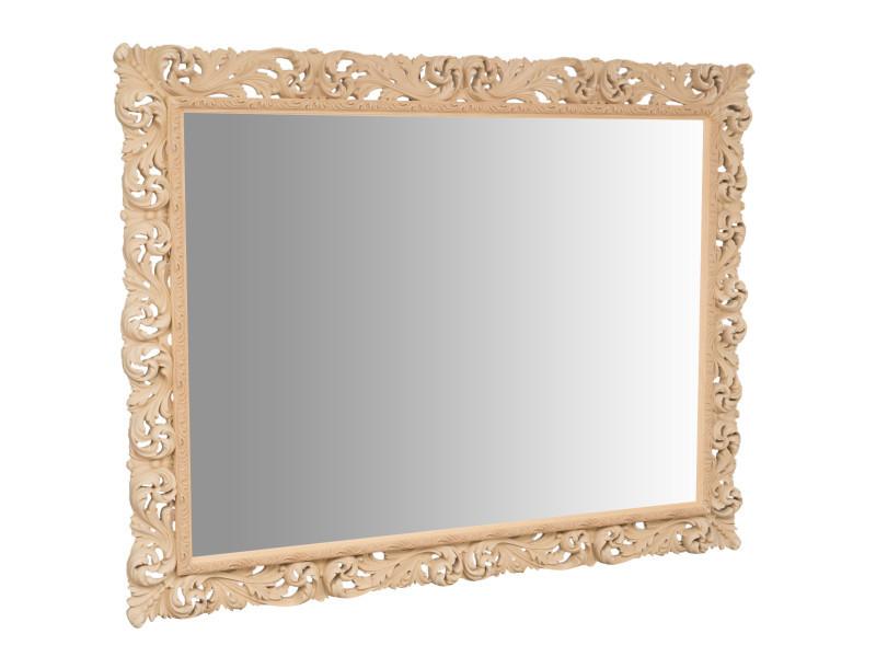 Miroir, long miroir mural rectangulaire, à accrocher au mur, horizontal et vertical, shabby chic, salle de bain, chambre à coucher, cadre finition brute, grand, long, l200xp6xh158 cm. Style shabby chic.