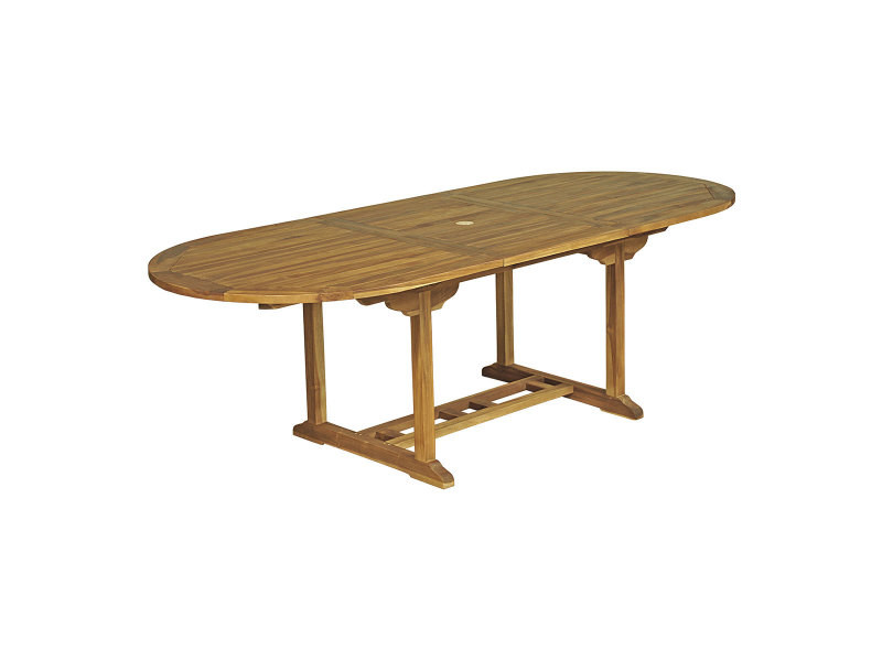 Table Ovale Baya 180 240 X 100 X 75 Cm En Teck Huile 6 8 Places