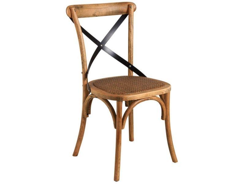 Chaise bistrot en hêtre vieilli