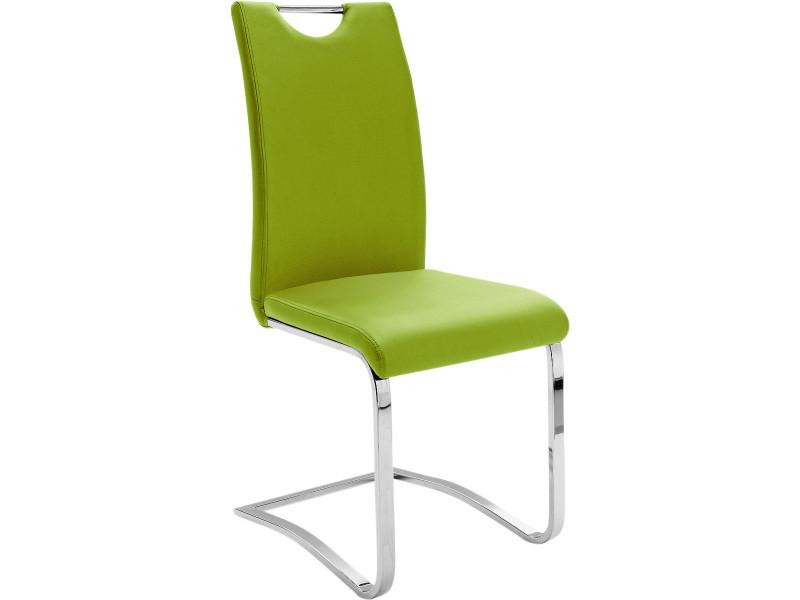Lot De 4 Chaises Vert Pomme Design En Polyester Avec Pietement Acier Chrome P 32924 Co C Sherrard Prevnext