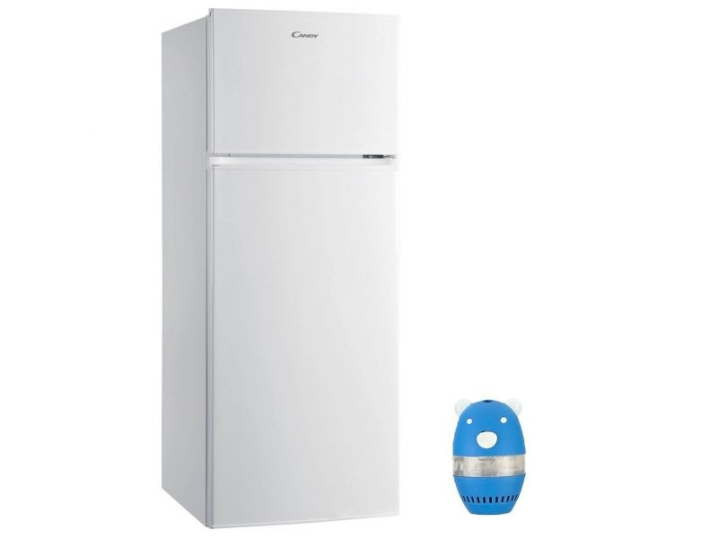 Refrigerateur frigo double porte blanc 204l a+ froid statique grande capacité