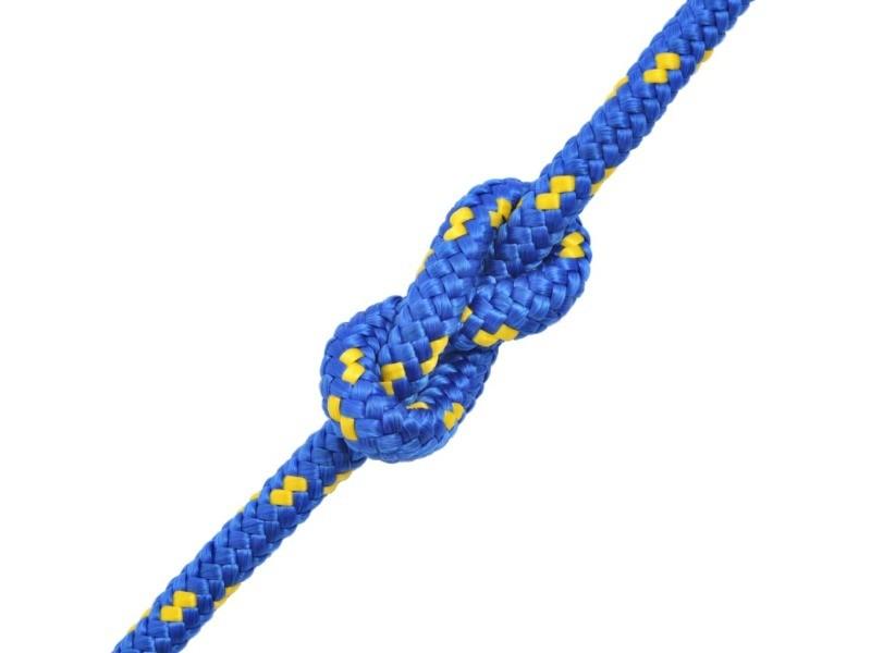 Icaverne - cordes et câbles de construction ligne corde de bateau polypropylène 16 mm 250 m bleu