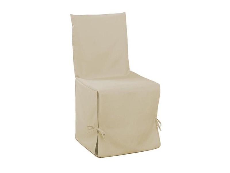 housse de chaise nouettes 50 x 50 cm naturel sable vente. Black Bedroom Furniture Sets. Home Design Ideas