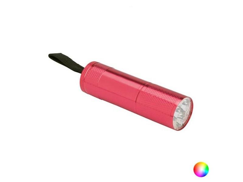 Lampe torche led en aluminium - lampe de poche couleur - argenté