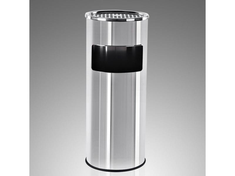 Cendrier extérieur avec poubelle en acier inoxydable 30l litres helloshop26 2012090