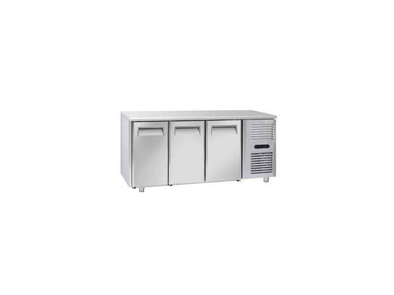 Table réfrigérée négative 3 portes gn 1/1 - profondeur 700 - cool head - r290 3 portes pleine