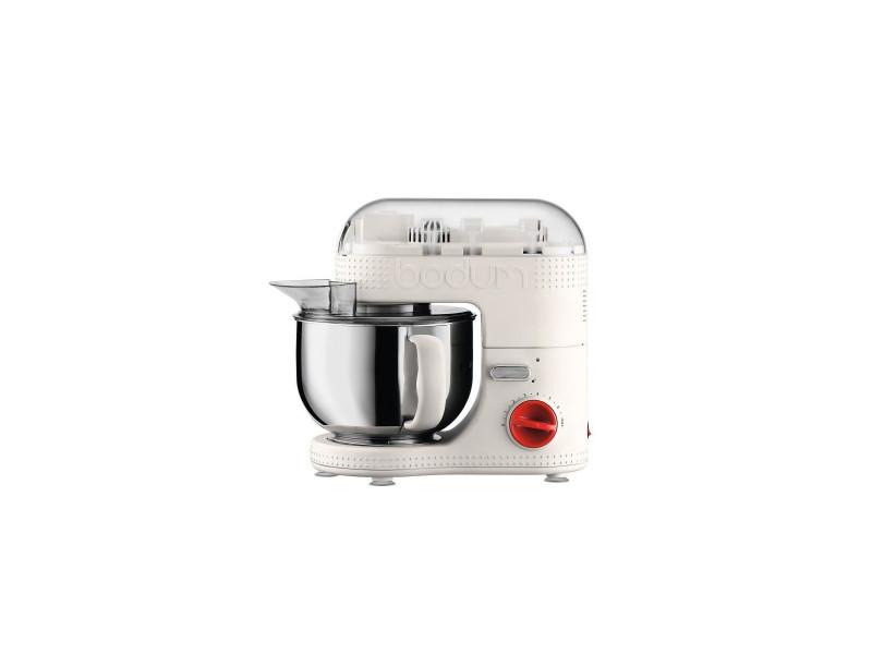 Bodum 11381-913euro-3 bistro robot de cuisine electrique - bol inox 4,7 l - 700 w - blanc creme BOD0699965372972