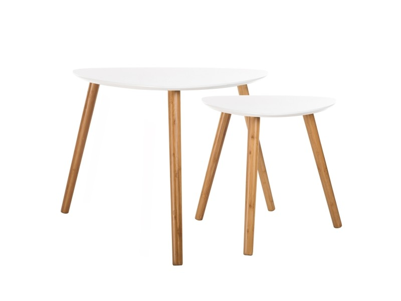 Table Basse Scandinave Blanche Lot De 2 Vente De Table Basse