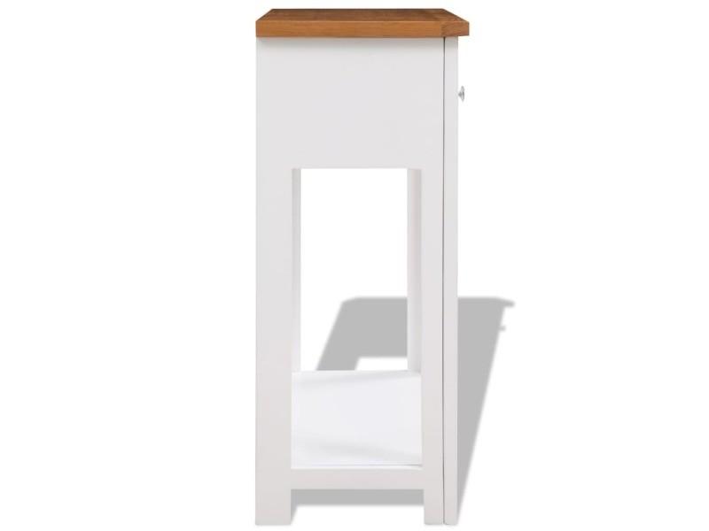 Vidaxl table console 83 x 30 x 73 cm bois de chêne massif 247124