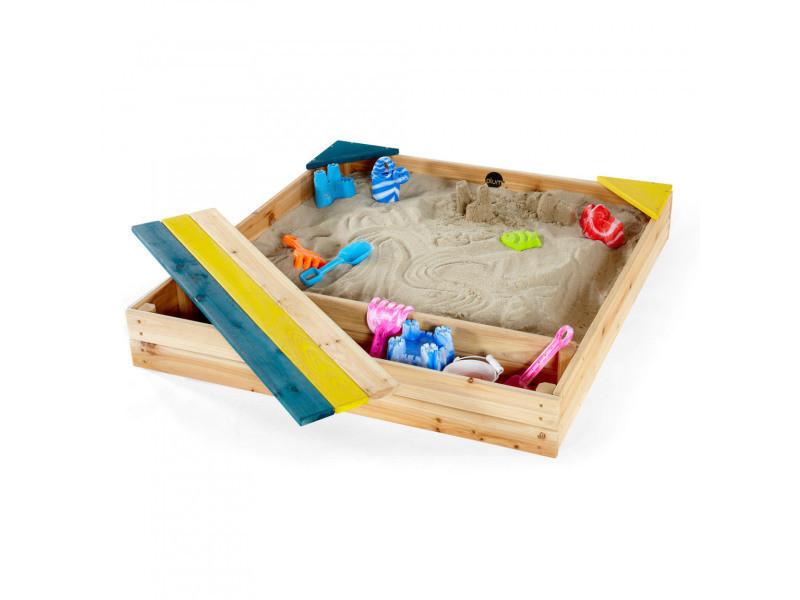 Bac à sable en bois avec coffre de rangement intégré