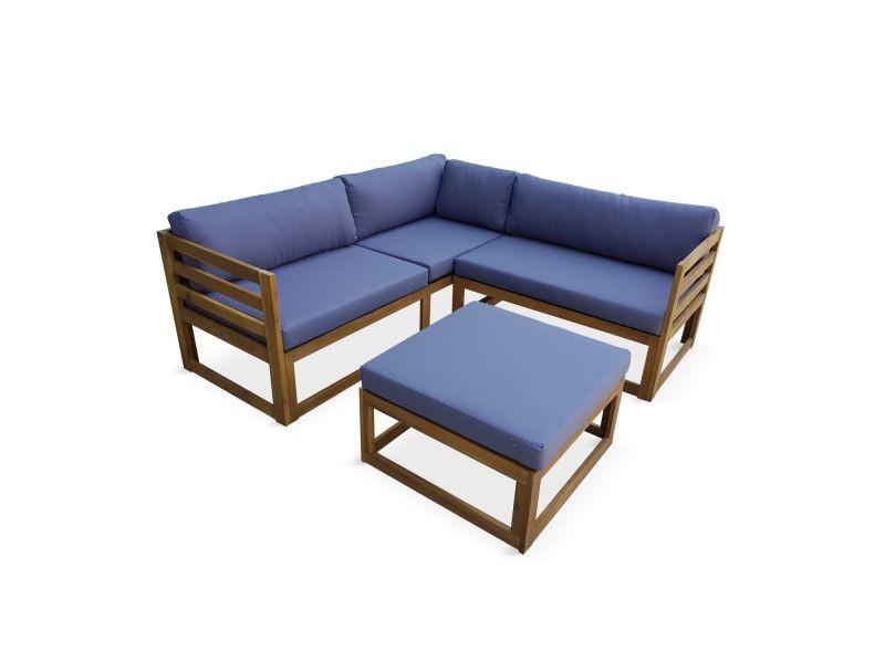 Salon de jardin d\'angle en bois 5 places – rafaela ...