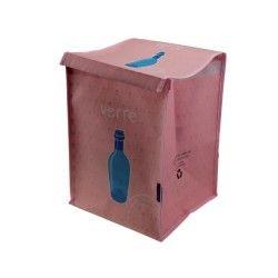 Bac a tri - verre - rose pâle