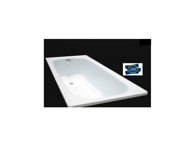 Baignoire classik acier maill 170cm vente de azura home design conforama - Baignoire acier emaille ...