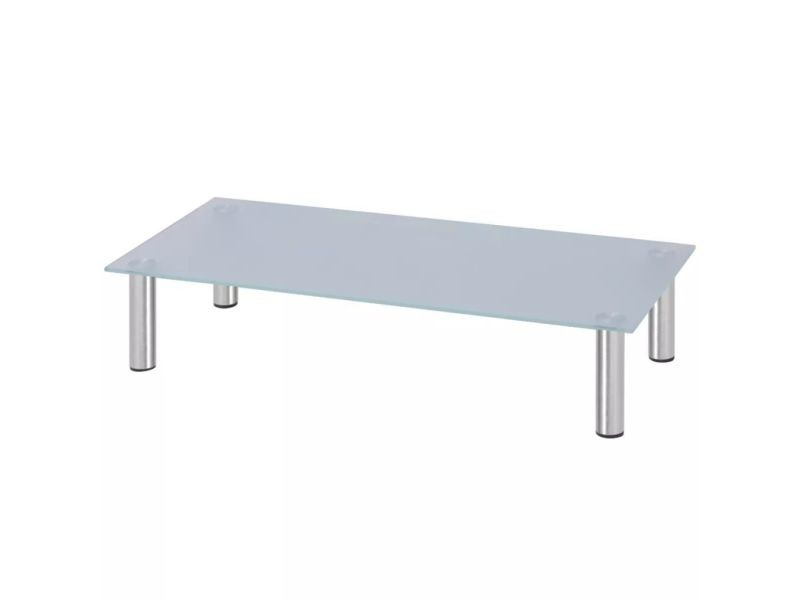 Sublime meubles selection apia support tv 80 x 35 x 17 cm verre blanc