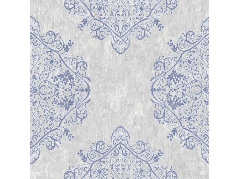 Papier peint intissé marrakech 1005 x 52cm gris, bleu 100036