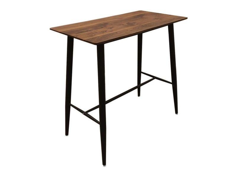 Table mange debout plateau en bois indus